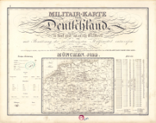 Militair-Karte von Deutschland in fünf und zwanzig Blättern