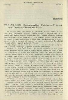 Trojan, P. 1975 - Ekologia ogólna - Państwowe Wydawnictwo Naukowe, Warszawa, 419 str.