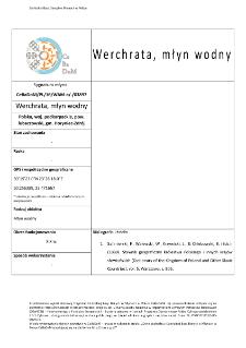 Werchrata, watermill