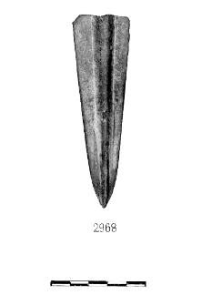 blade of a javelin (Goleniów) - chemical analysis