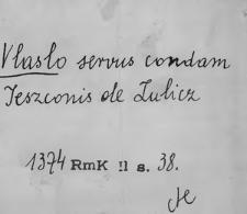 Kartoteka Słownika staropolskich nazw osobowych; Wla - Wnę