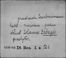 Kartoteka Słownika staropolskich nazw osobowych; Zab - Zac
