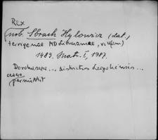Kartoteka Słownika staropolskich nazw osobowych; Zbr - Zby
