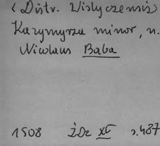 Kartoteka Słownika Antroponimii Polski od XVI do XVIII w.; Bab - Baz
