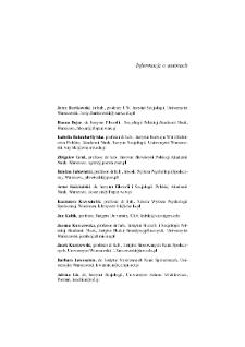 Informacje o autorach