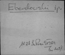Kartoteka Słownika Antroponimii Polski od XVI do XVIII w.; E, F