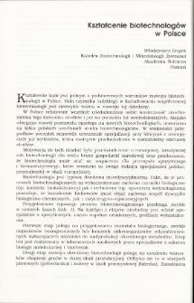 Kształcenie biotechnologów w Polsce