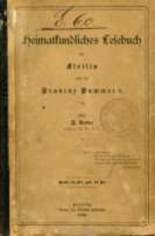 Heimatkundliches Lesebuch für Stettin und die Provinz Pommern