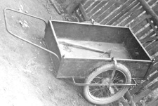 Two-wheeled manually pulled cart