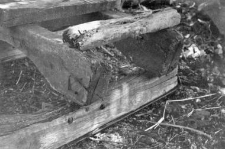 Fragment of a two-piece sleigh