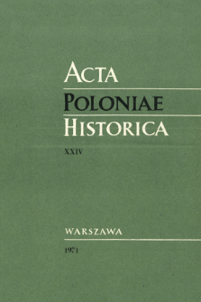 Acta Poloniae Historica. T. 24 (1971), Title pages, Contents