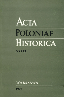 Acta Poloniae Historica. T. 36 (1977), Title pages, Contents