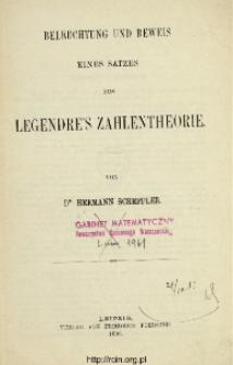 Beleuchtung und Beweis : eines Satzes aus Legendre's Zahlentheorie