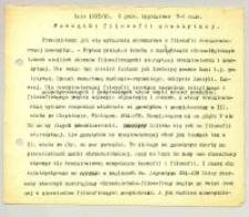 """Początki filozofii nowożytnej : Lato 1917/18. 3 godz.[iny] tygodniowo 7-8 rano"""".Obejmuje filozofię XIV i XV w."""