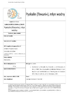 Pyekalin (Пякалін), watermill