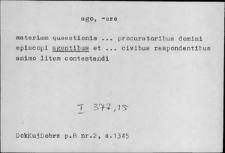 Kartoteka Słownika Łaciny Średniowiecznej; ago - aliqualiter