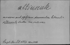 Kartoteka Słownika Łaciny Średniowiecznej; altiscule - amosus