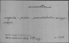 Kartoteka Słownika Łaciny Średniowiecznej; ammotio - animadvertio