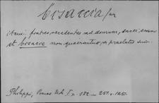Kartoteka Słownika Łaciny Średniowiecznej; bisaccia - brizilla