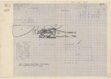 KZG, VI 201 A C, plan archeologiczny wykopu, cmentarz (grób 6/59)