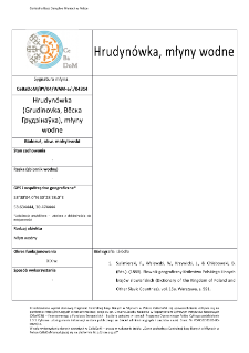 Hrudynówka (Grudinovka, Вёска Грудзінаўка), watermills