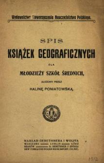 Spis książek geograficznych dla młodzieży szkół średnich