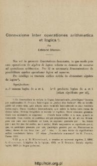 Connexione inter operationes arithmetica et logica