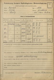 Wyniki pomiarów temperatury gruntu. Grudzień 1956