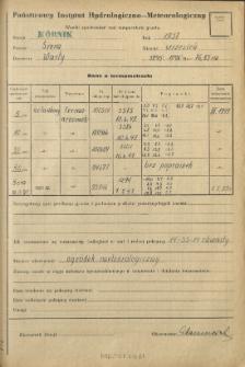 Wyniki pomiarów temperatury gruntu. Wrzesień 1957