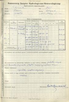 Wyniki pomiarów temperatury gruntu. Listopad 1967