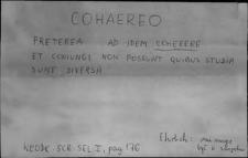 Kartoteka Słownika Łaciny Średniowiecznej; cohaereo - colonus