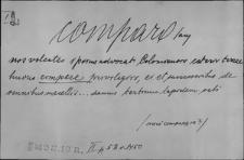 Kartoteka Słownika Łaciny Średniowiecznej; comparo - compositio