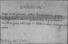 Kartoteka Słownika Łaciny Średniowiecznej; condicio - conficio