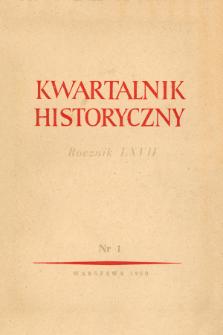 Kwartalnik Historyczny R. 67 nr 1 (1960), Listy do redakcji