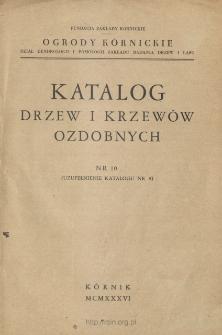 Katalog drzew i krzewów ozdobnych. Nr 10