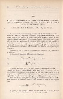 Sulla integrazione di un sistema di equazioni differenziali a derivate parziali che si prezenta nella teoria delle funzioni coniugate