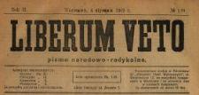 Liberum Veto : pismo narodowo-radykalne 1919 N.1