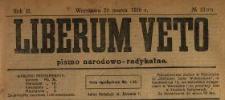 Liberum Veto : pismo narodowo-radykalne 1919 N.13
