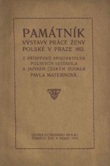 Památník výstavy práce ženy polské v Praze 1912