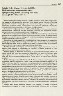 Schulze E.-D., Mooney H. A. (red.) 1993 - Biodiversity and ecosystem function - Springer-Verlag, Berlin, Heidelberg, New York, ss. 525. [ ISBN 3-540-55804-7]