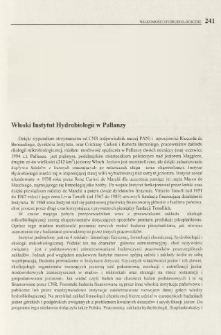 Włoski Instytut Hydrobiologii w Pallanzy