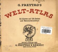 G. Freytag's Welt-Atlas : 211 Karten auf 124 Seiten und Namensverzeichnis