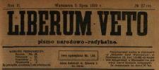 Liberum Veto : pismo narodowo-radykalne 1919 N.27