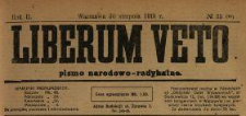 Liberum Veto : pismo narodowo-radykalne 1919 N.35