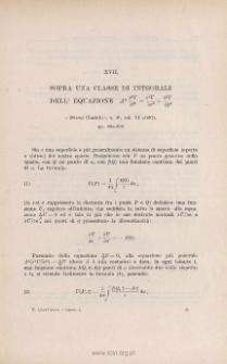 Sopra una classe diintegrali dell'equazione A² « Nuovo Cimento », s. 4ª, vo. VI (1897), pp. 204-209