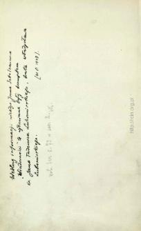 Odręczna notatka W. Polińskiego