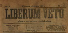 Liberum Veto : pismo narodowo-radykalne 1919 N.45