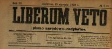 Liberum Veto : pismo narodowo-radykalne 1920 N.2
