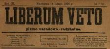 Liberum Veto : pismo narodowo-radykalne 1920 N.7