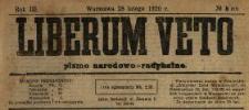 Liberum Veto : pismo narodowo-radykalne 1920 N.8